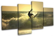 Surfer Sunset Seascape - 13-0961(00B)-MP04-LO